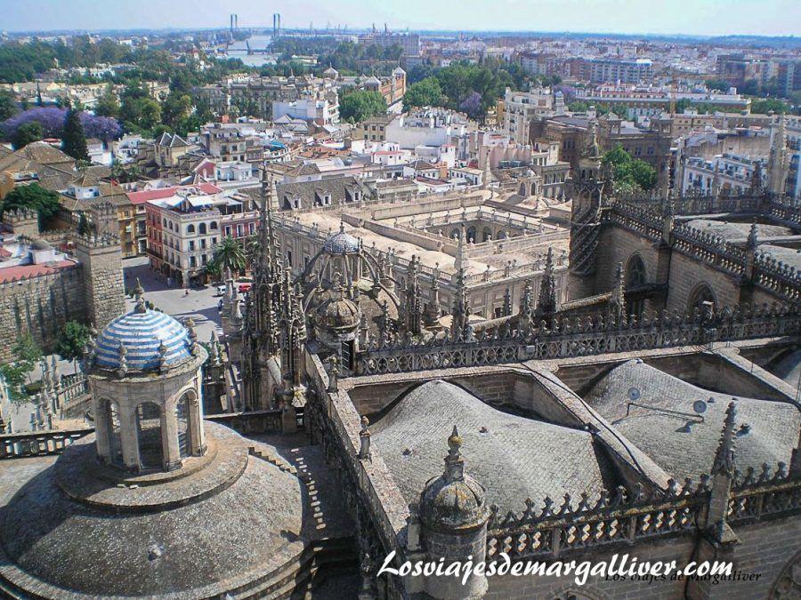 Vistas desde las cubiertas de la catedral de Sevilla - Los viajes de Margalliver
